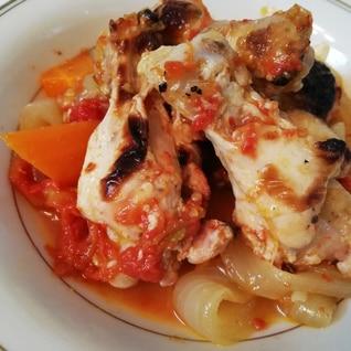 完熟トマトの手羽元煮