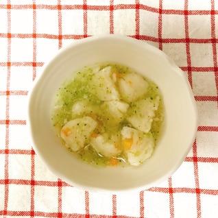 【離乳食後期】ふんわりつみれとブロッコリー 和風煮