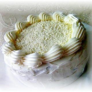ブラック&ホワイトのチョコレートケーキ