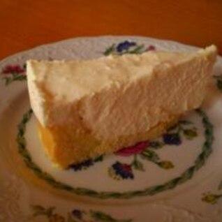 バター無しで台から作る☆レアチーズケーキ