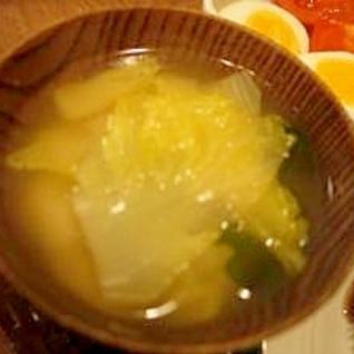 白菜と麩のお味噌汁