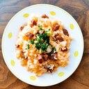 牛肉と玉ねぎのシンプルなチャーハン