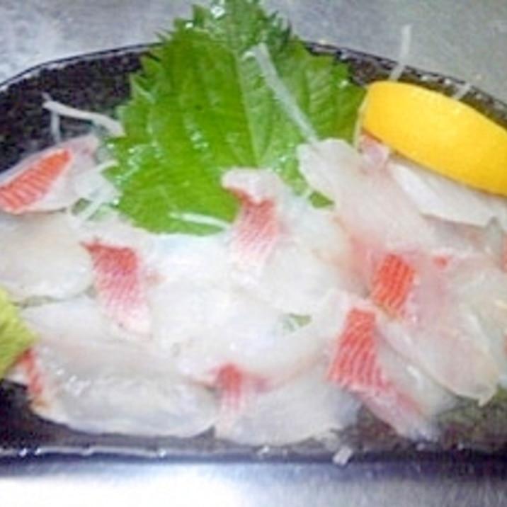 ☆赤イサキ焼き霜作り☆