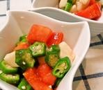 オクラ・山芋・トマトのネバネバサラダ