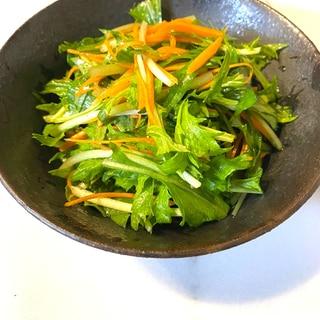 主夫がつくる水菜と人参のサラダ