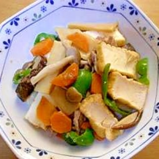 簡単で美味しい★厚揚げと豚肉と野菜の炒め物