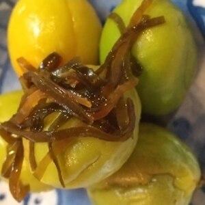 食べだしたら止まらない★3日で食べれる青梅の昆布漬