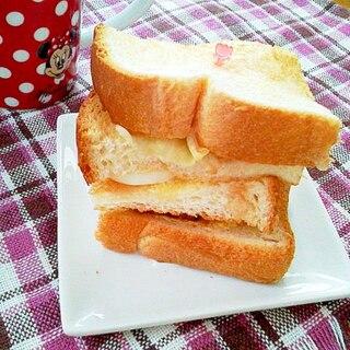 食パンで!ハンバーガータワー♪