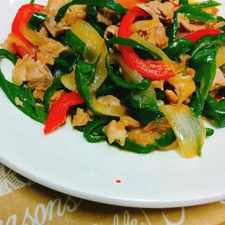 簡単☆夕飯に!豚肉とピーマンの炒め物