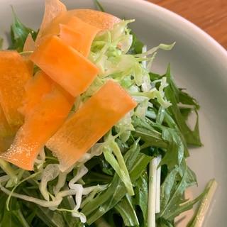 水菜キャベツにんじんサラダ