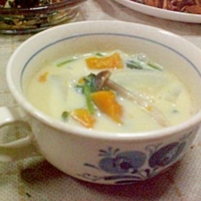 ● 野菜たっぷり☆豆乳コンソメスープ ●