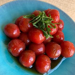 プチトマトのポン酢漬け