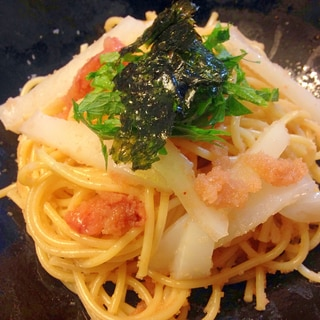イカと明太子の和風パスタ☆スパゲティー