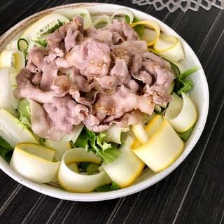 ひらひらズッキーニの豚しゃぶサラダ