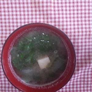 *ラディッシュ葉が残ったら…の味噌汁*