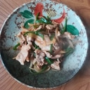 豚肉、ピーマン、玉葱で簡単甘辛炒め♪