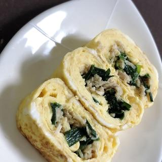 ニラツナ卵焼き