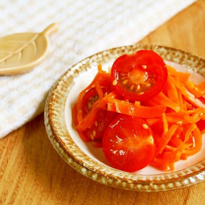 プチトマト・人参の酢の物♪甘くて美味♪