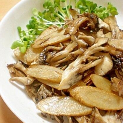 新ごぼうと舞茸の炒め物