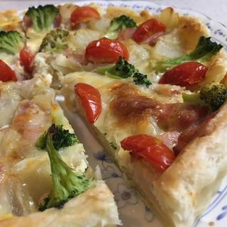 簡単キレイ★ベーコンと野菜のキッシュ★