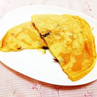 葡萄の皮入り♪米粉のヘルシーパンケーキ