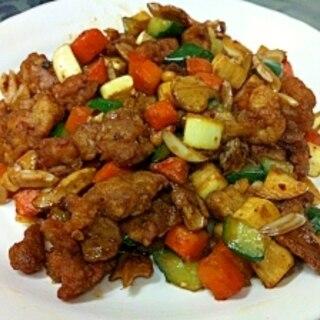 鶏肉とマコモ茸の中華炒め