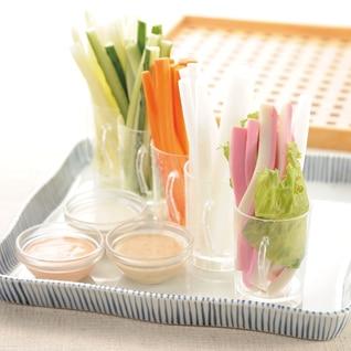 かまぼこと野菜スティック