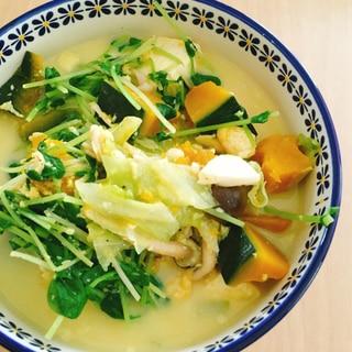 *ダイエット*野菜たっぷり豆乳スープ 豆腐ver