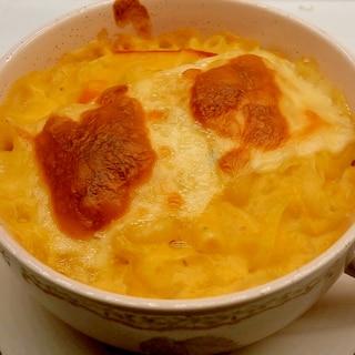 かぼちゃのスープをリメイク グラタンに