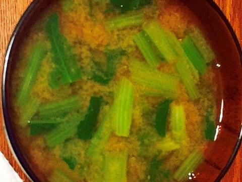 小松菜とジャガイモの味噌汁