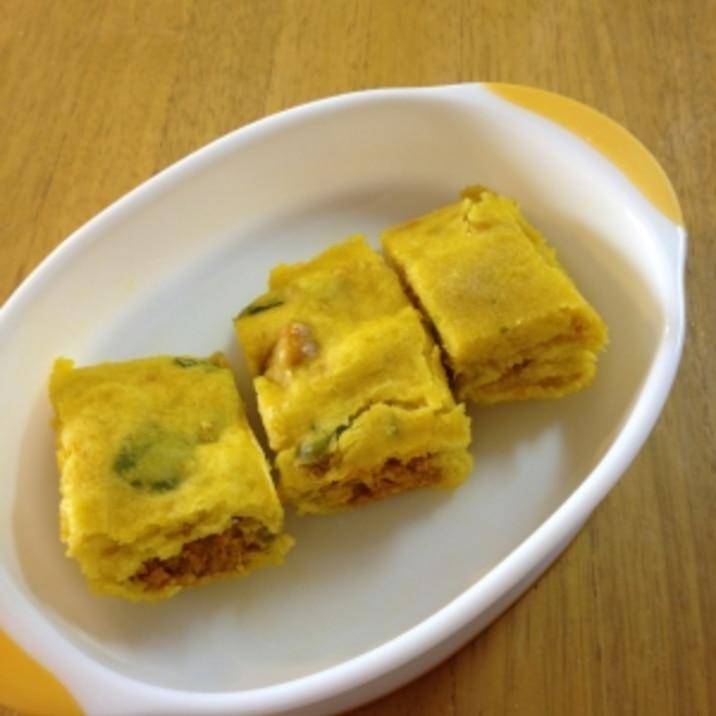 【離乳食】ルクエでかぼちゃ蒸しパン※卵&牛乳不使用