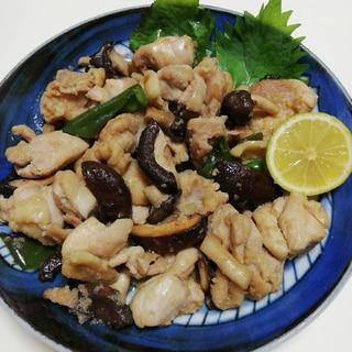 鶏肉ときのこのにんにく生姜焼き
