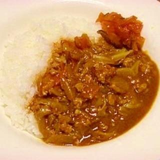 野菜不足解消☆キャベツ入りカレー