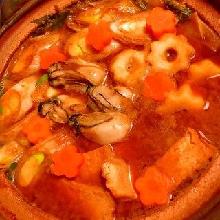 牡蠣の酒粕八丁味噌どて鍋