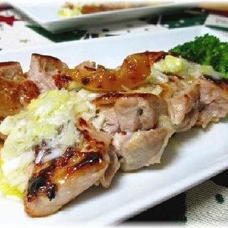 塩レモンでねぎ塩ダレ 鶏むね肉のコクうま焼き