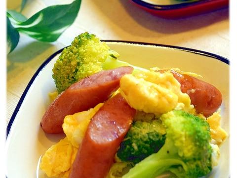 ブロッコリーとウインナーの卵炒め
