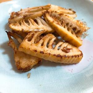 居酒屋風たけのこのバター焼き。酒の肴にピッタリ。