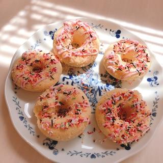 シリコン型で簡単かわいい焼きドーナツ