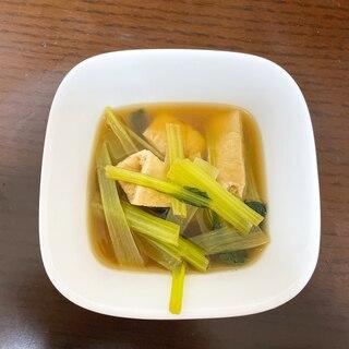 【5分で作る!】油揚げと小松菜のおひたし