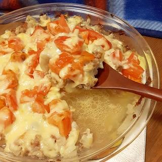 簡単!合挽肉とトマトのシンプルチーズ焼き♪