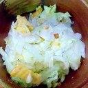 塩もみキャベツにんにくクラッカーマヨサラダ