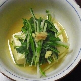 水菜と豆腐のさっと煮碗