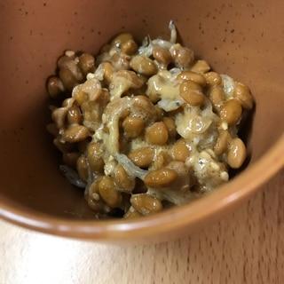 味付けは梅昆布茶★じゃことごまの納豆