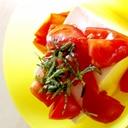 大葉とトマトの冷奴