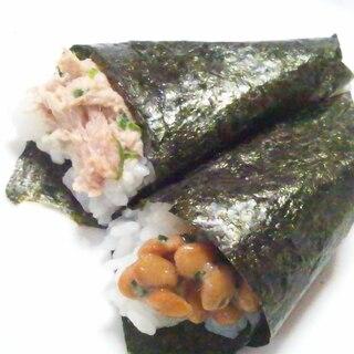 子供が食べやすいミニサイズ♪シーチキン手巻き寿司