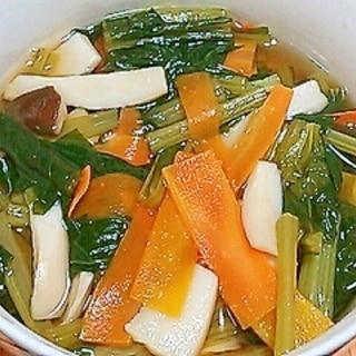 小松菜とエリンギの煮浸し