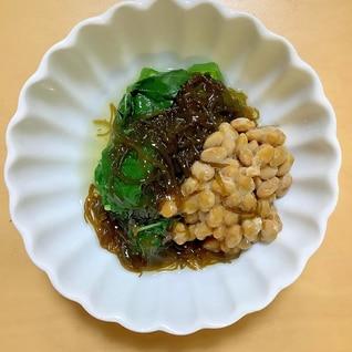 ネバネバ四重奏! 味付けもずく利用で簡単副菜