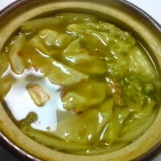 スープカレー風の水餃子