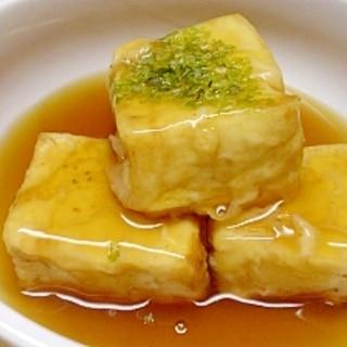 少ない油で 揚げだし豆腐