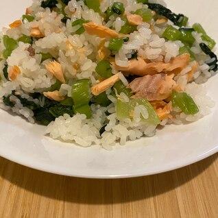 簡単!鮭と野沢菜の混ぜご飯